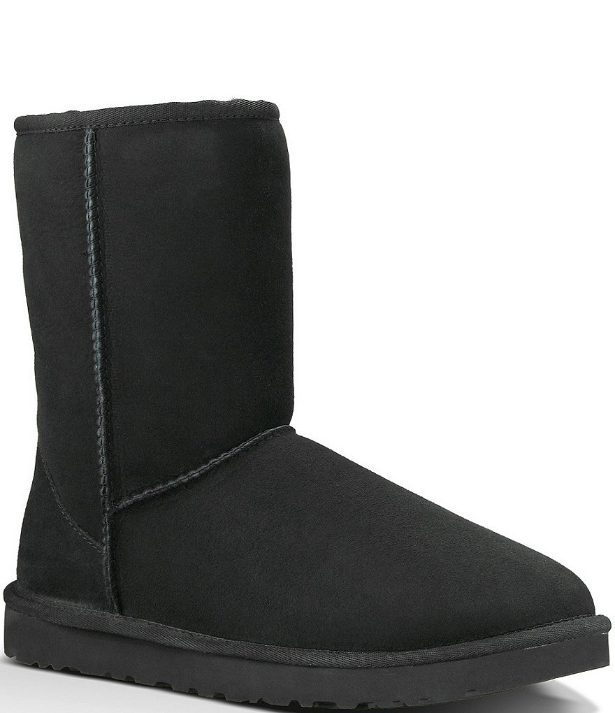ugg classic short boots black