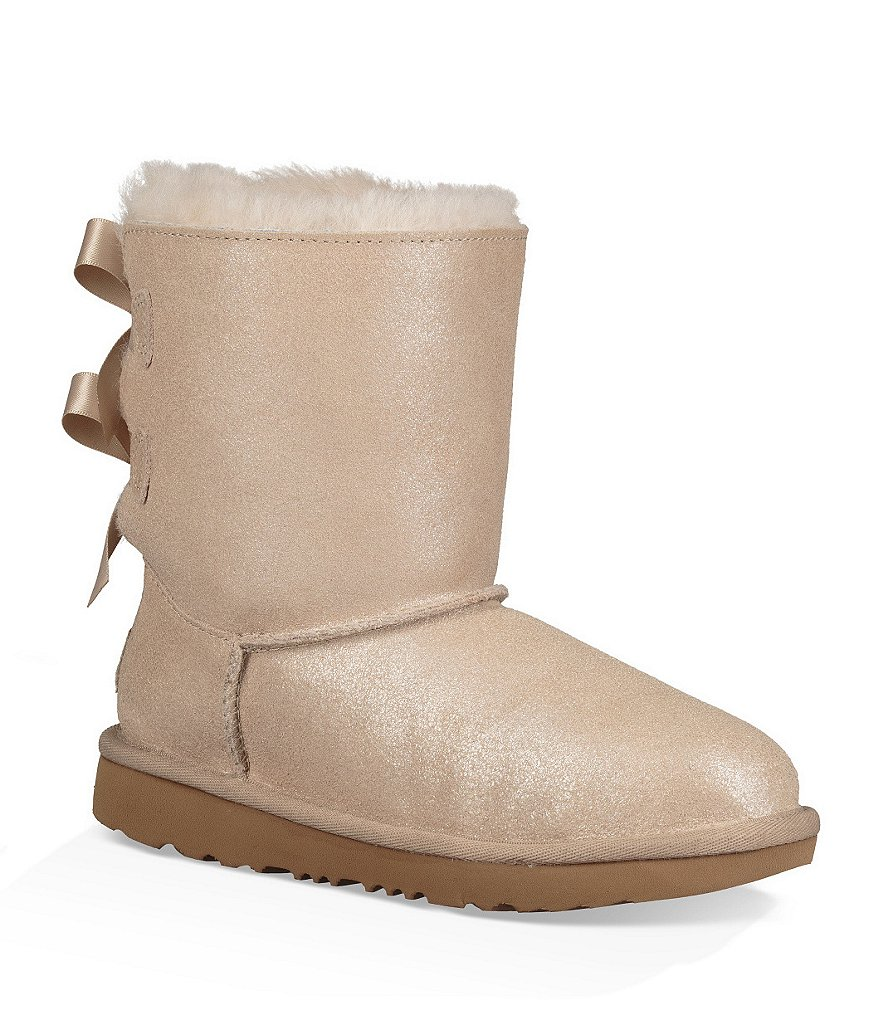 UGG® Girls' Bailey Bow II Shimmer Boots