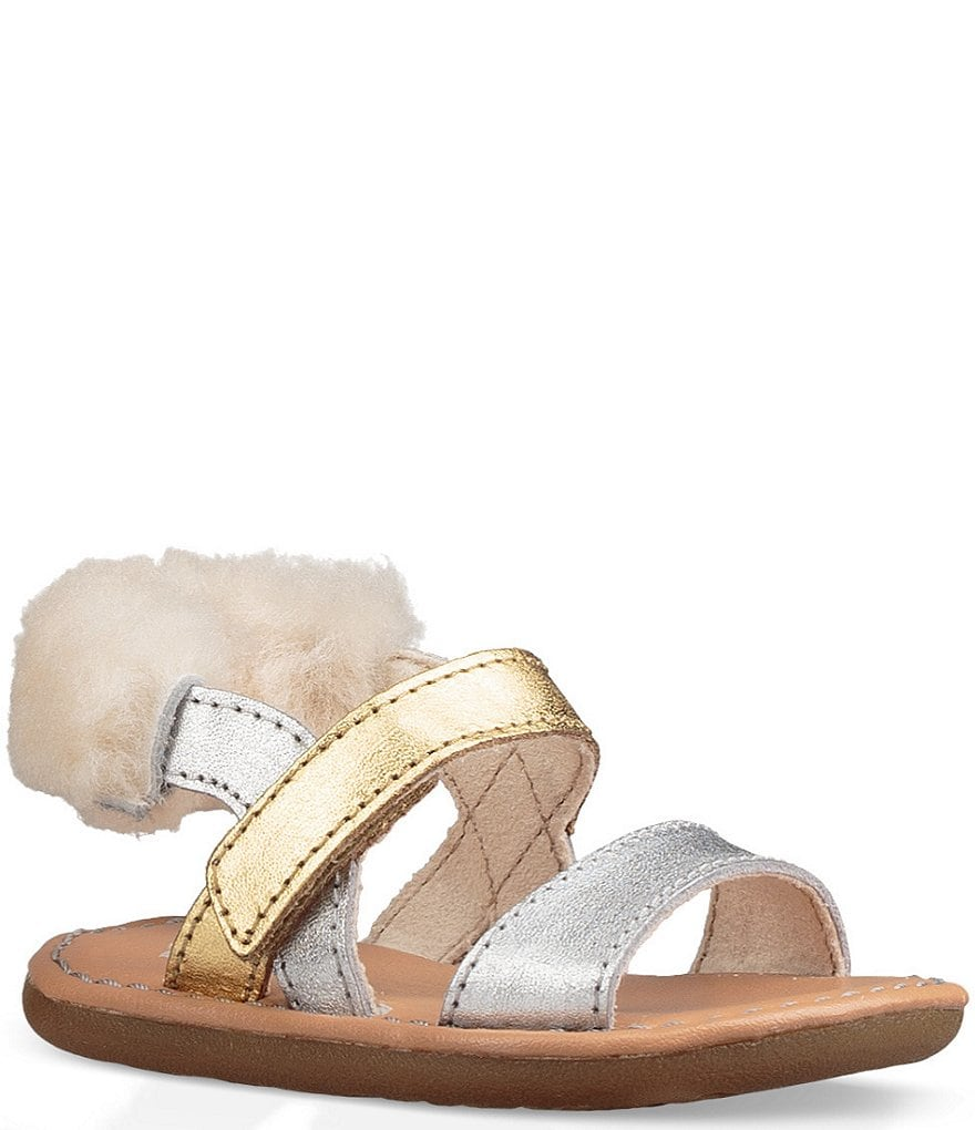 UGG® Girls' Dorien Genuine Sheepskin Wrapped Crib Shoes