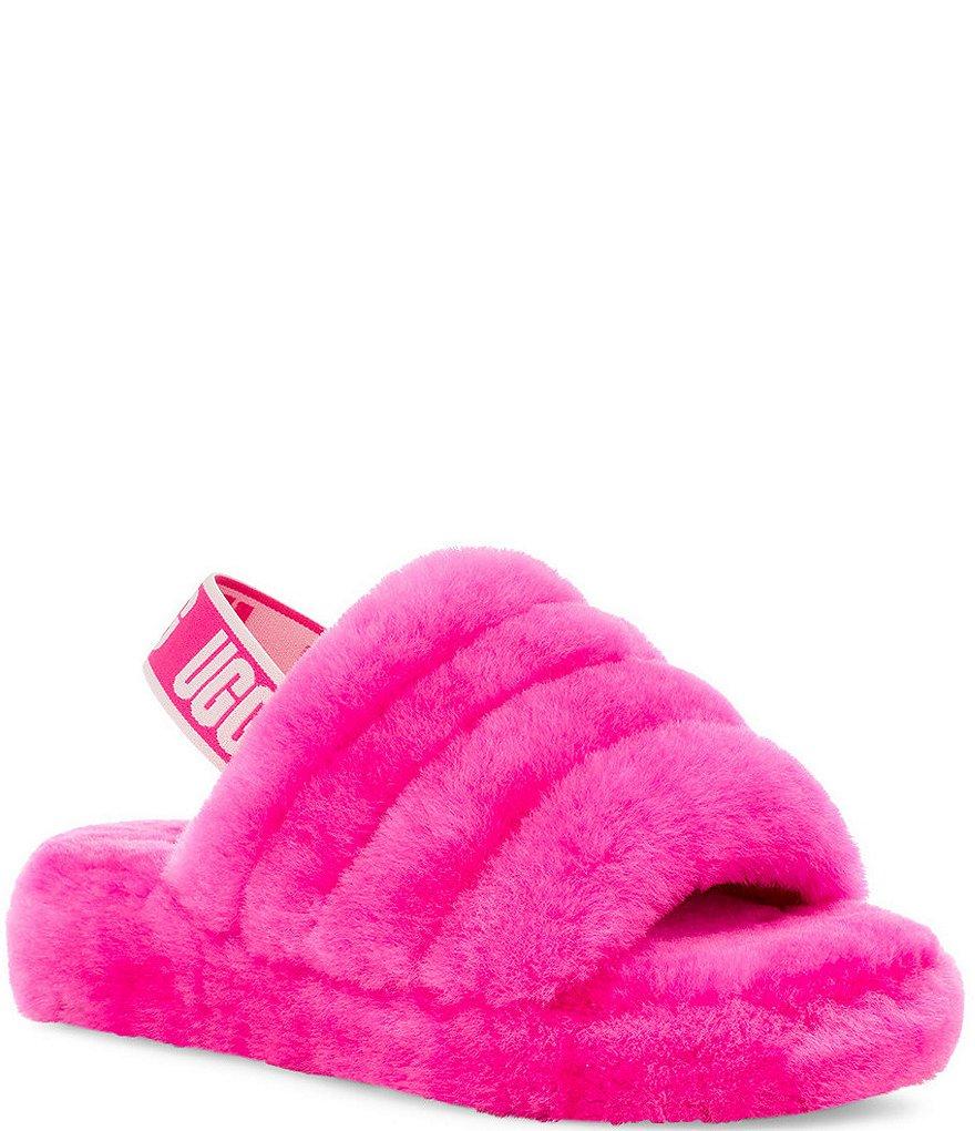 UGG® Logo Girls' Fluff Yeah Slides