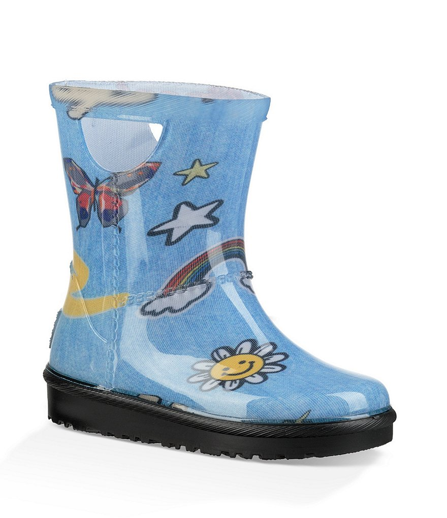 UGG® Girls' Rahjee Patches Rain Boots