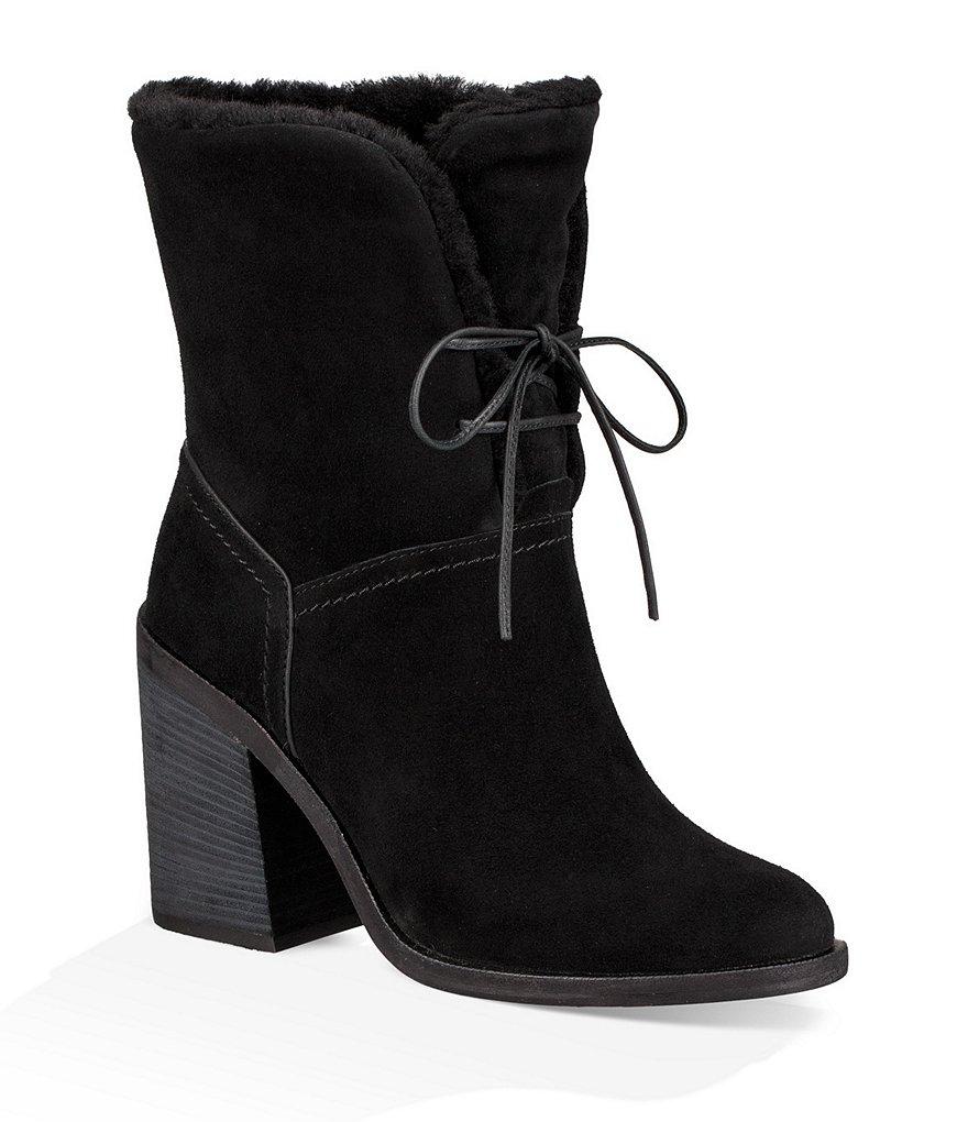 UGGUGG® Jerene Suede Block Heel Booties