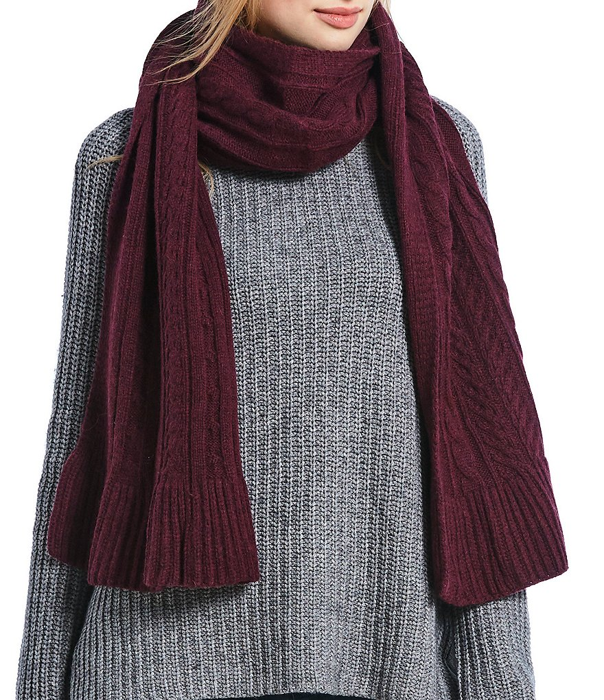 UGG® Ladies' Cable Scarf with Ruffle Hem