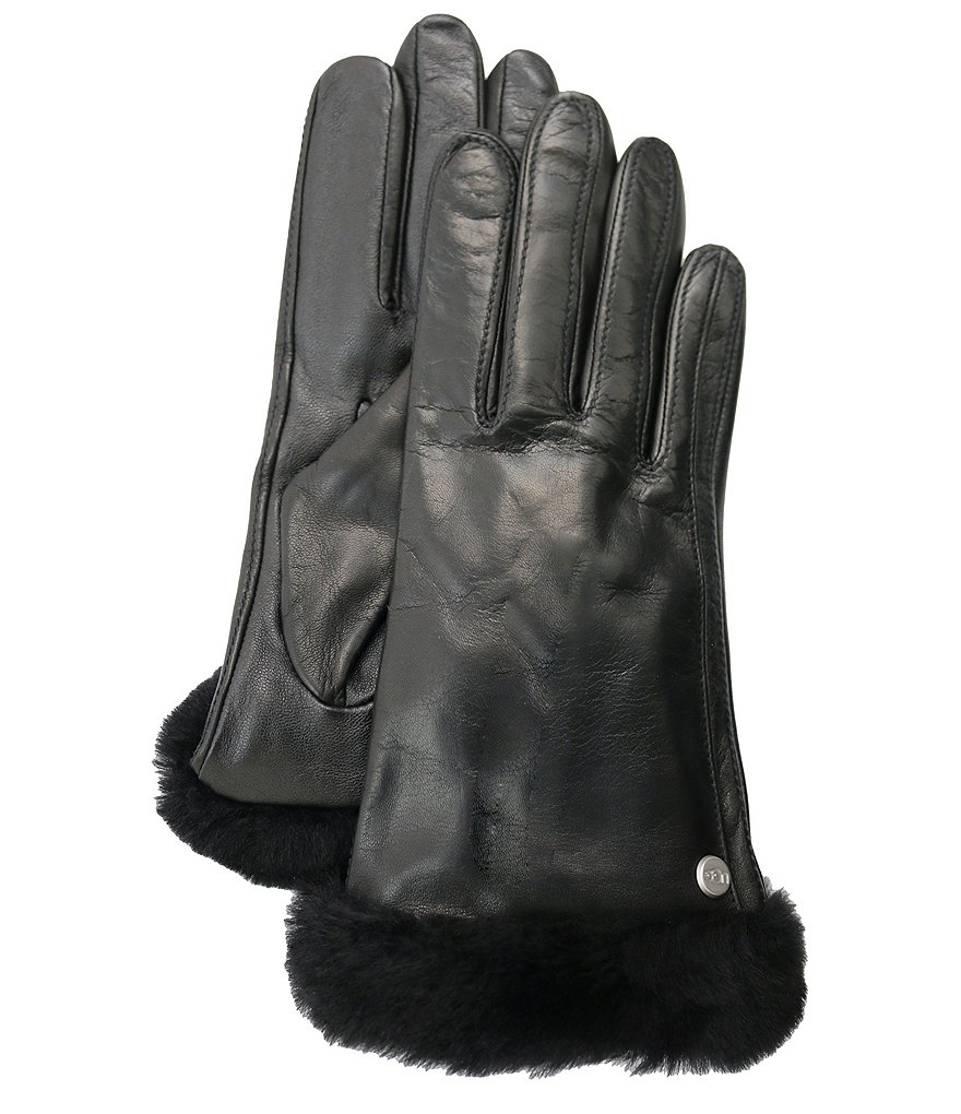 UGG® Ladies' Classic Leather Genuine Shearling Sheepskin Tech Gloves