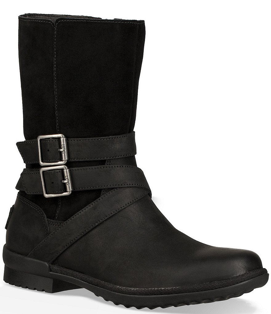 Ugg 174 Lorna Waterproof Leather And Suede Boots Dillard S