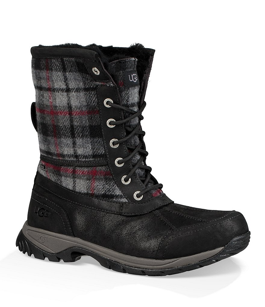 UGG® Men's Plaid Waterproof Cold Weather Butte Boots