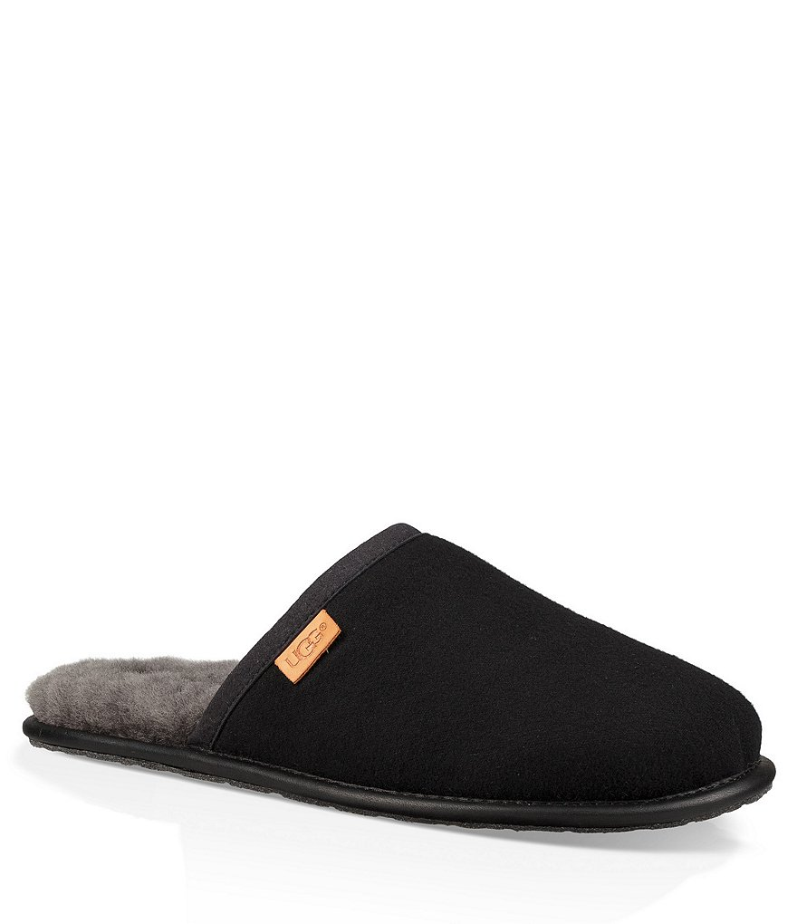 UGG Men's Scuff Leather and Wool Slipper
