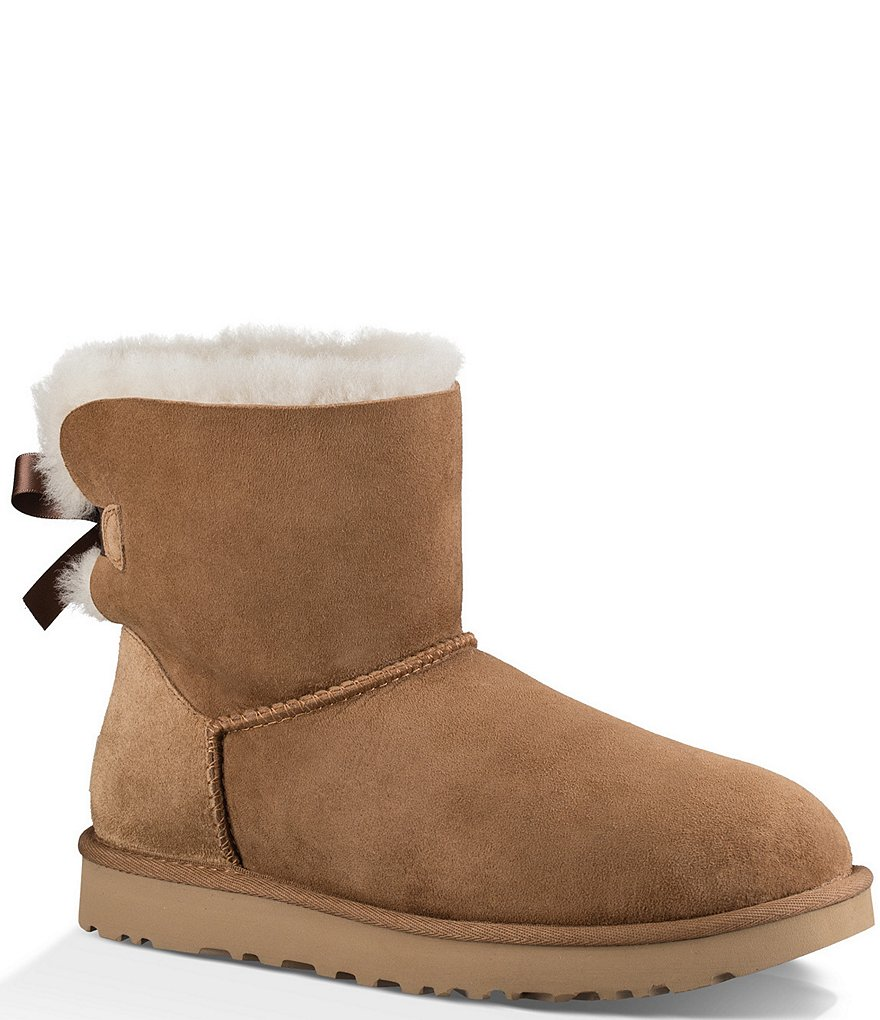 UGG® Mini Bailey Bow Il Twinface Upper Bow Back Detail Booties
