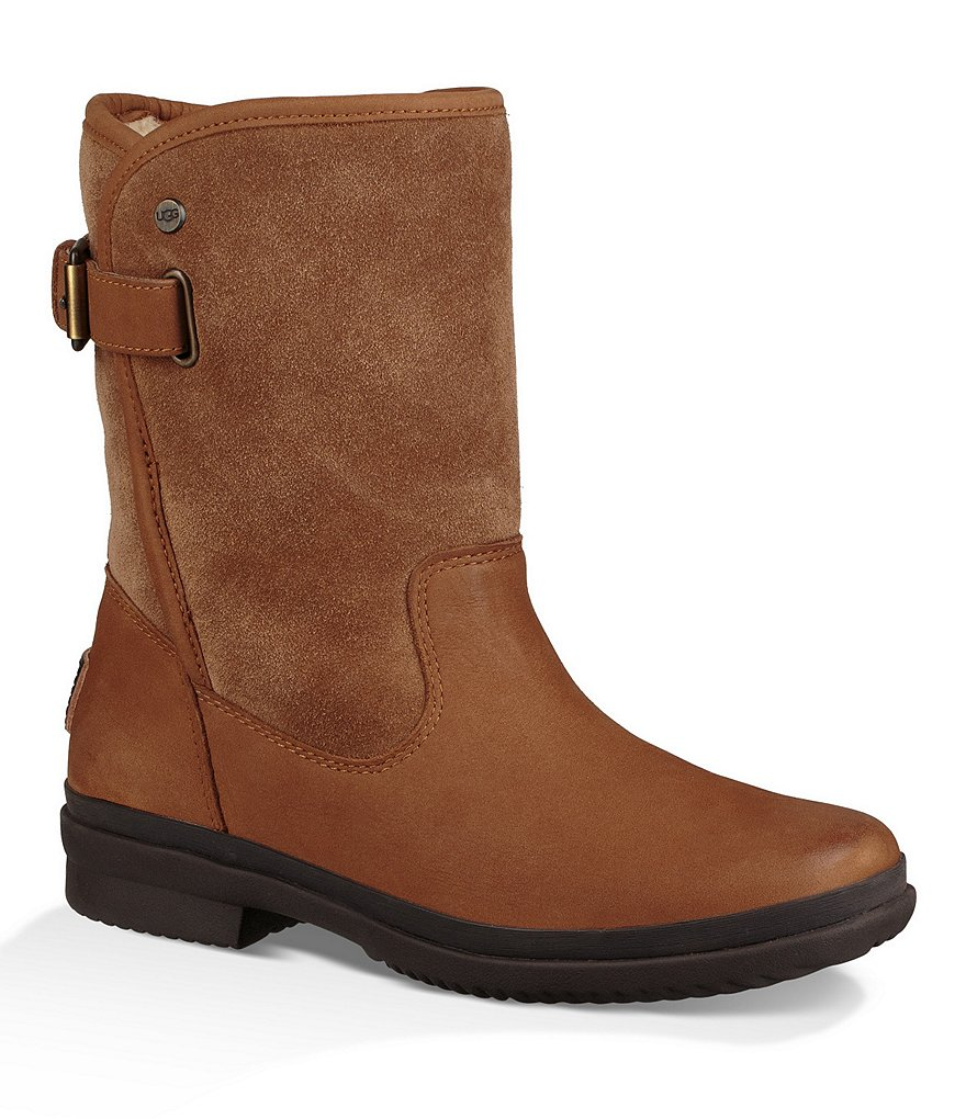 UGG® Women's Oren Leather and Suede Waterproof Cold Weather Block Heel Boots