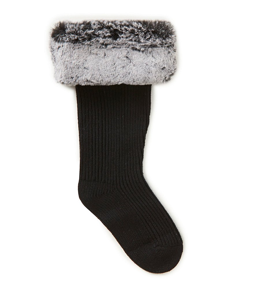 UGG® Shaye Cable-Knit Tall Socks with Faux-Fur Cuff