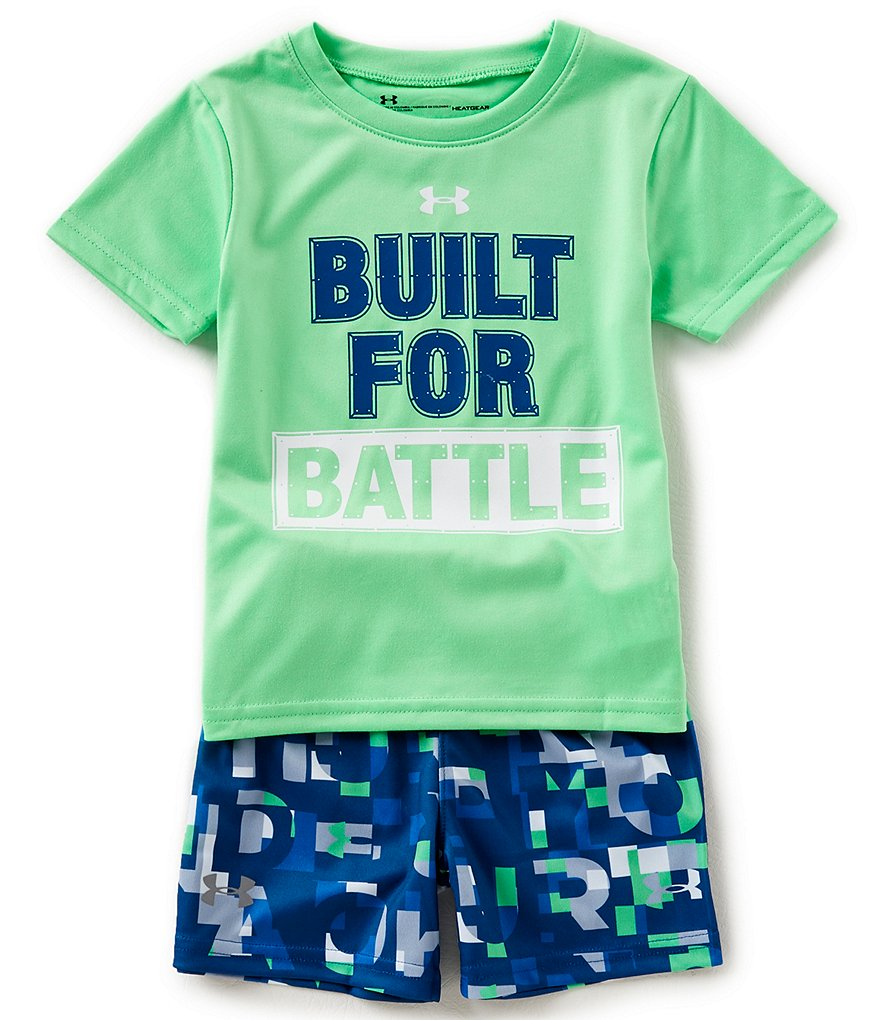 Under Armour Baby Boys 12-24 Months Built For Battle Tee & Shorts Set