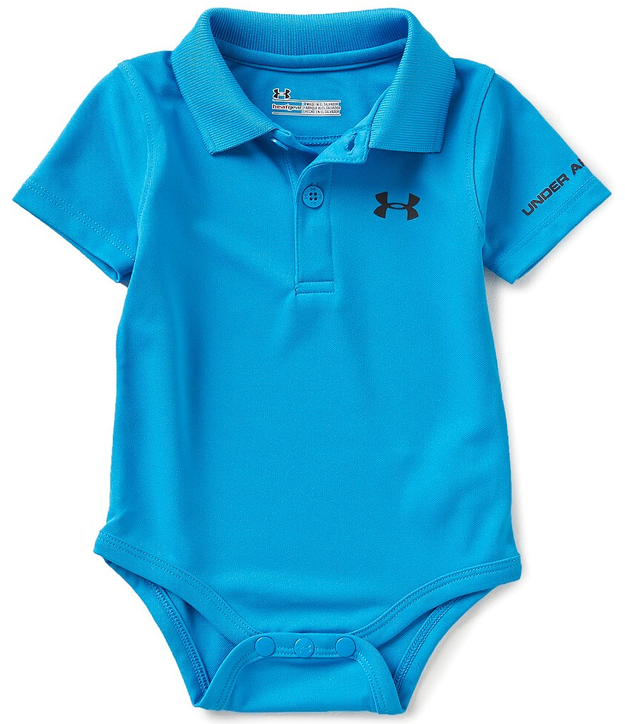 Under Armour Baby Boys Newborn-12 Months Solid Short-Sleeve Polo Bodysuit
