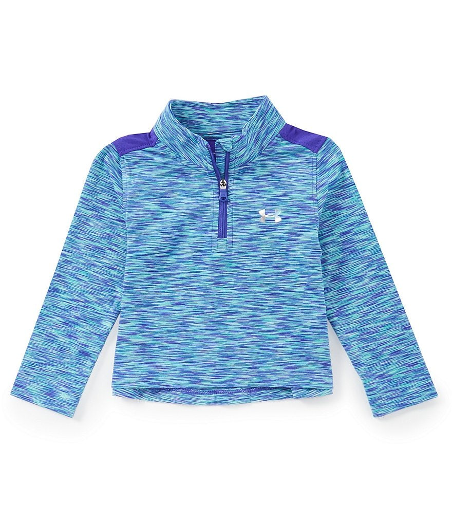 Under Armour Baby Girls 12-24 Months Colorblock Quarter-Zip Pullover