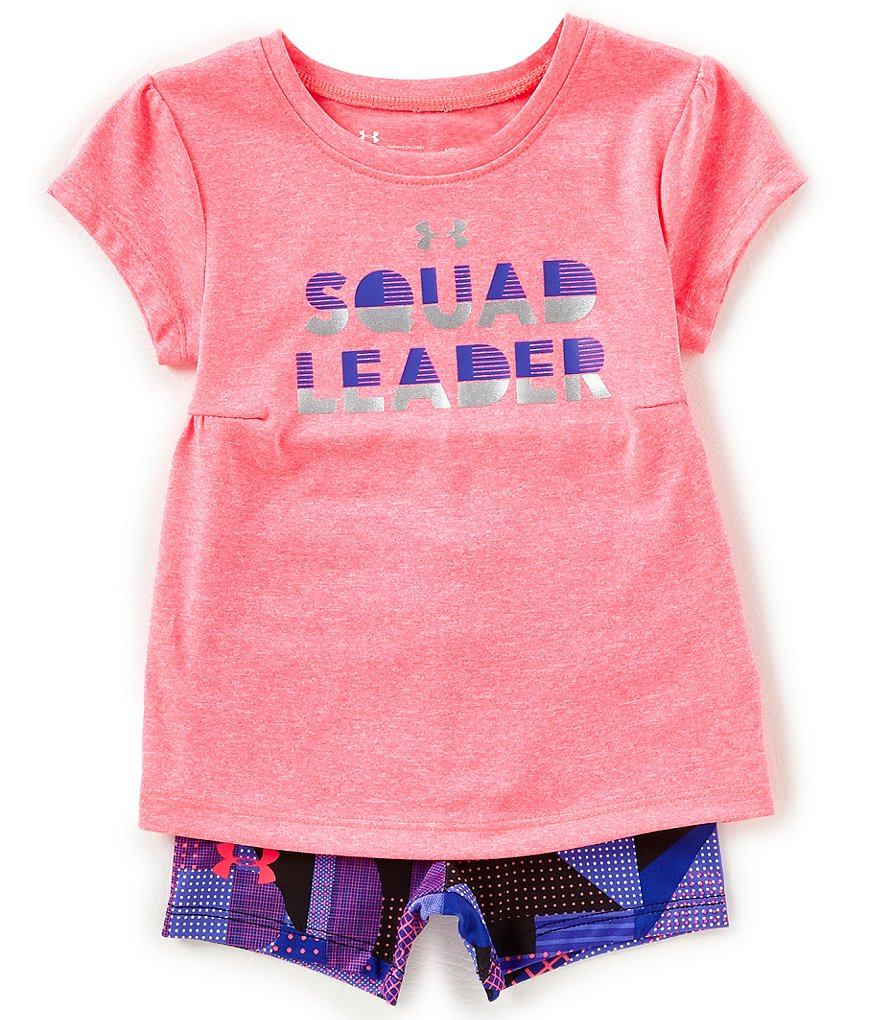 Under Armour Baby Girls 12-24 Months Squad Leader Tee & Printed Shorts Set