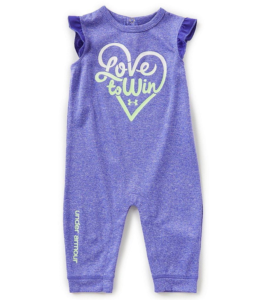 Under Armour Baby Girls Newborn-12 Months Love To Win Coverall