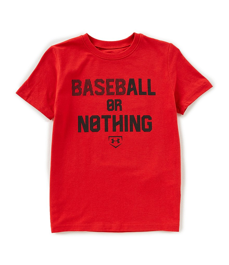 Under Armour Big Boys 8-20 Baseball Or Nothing Short-Sleeve Tee