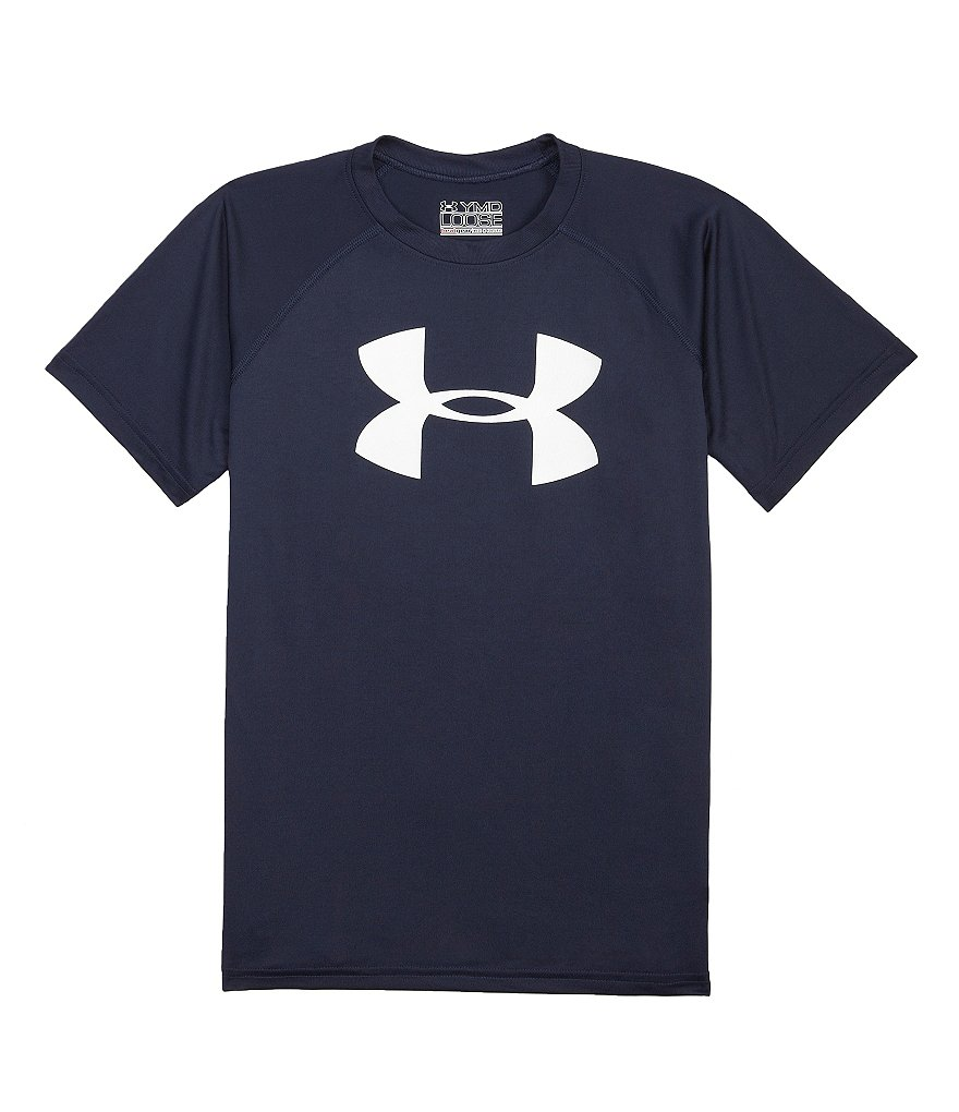 Under Armour Big Boys 8-20 Big Logo Tech Tee