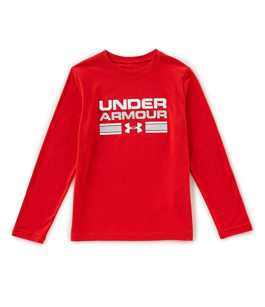 Under Armour Big Boys 8-20 Crossbar Logo Long-Sleeve Tee