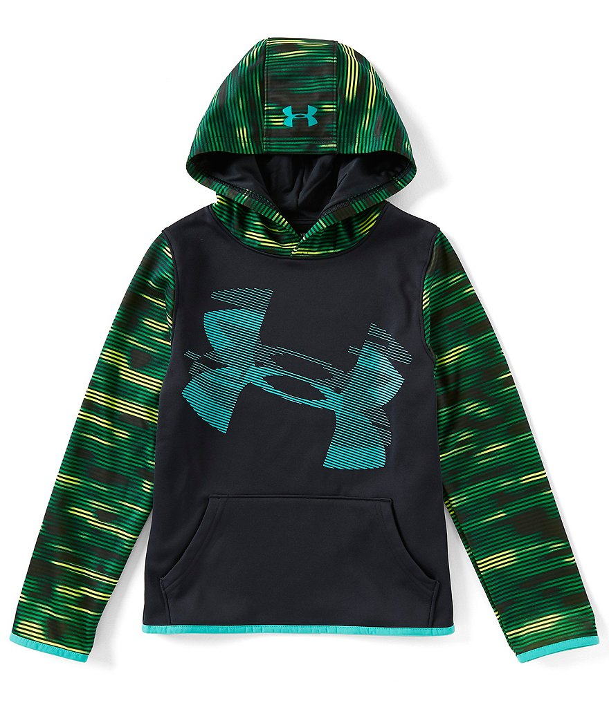 Under Armour Big Boys 8-20 Highlighted-Sleeve Armour Fleece Hoodie