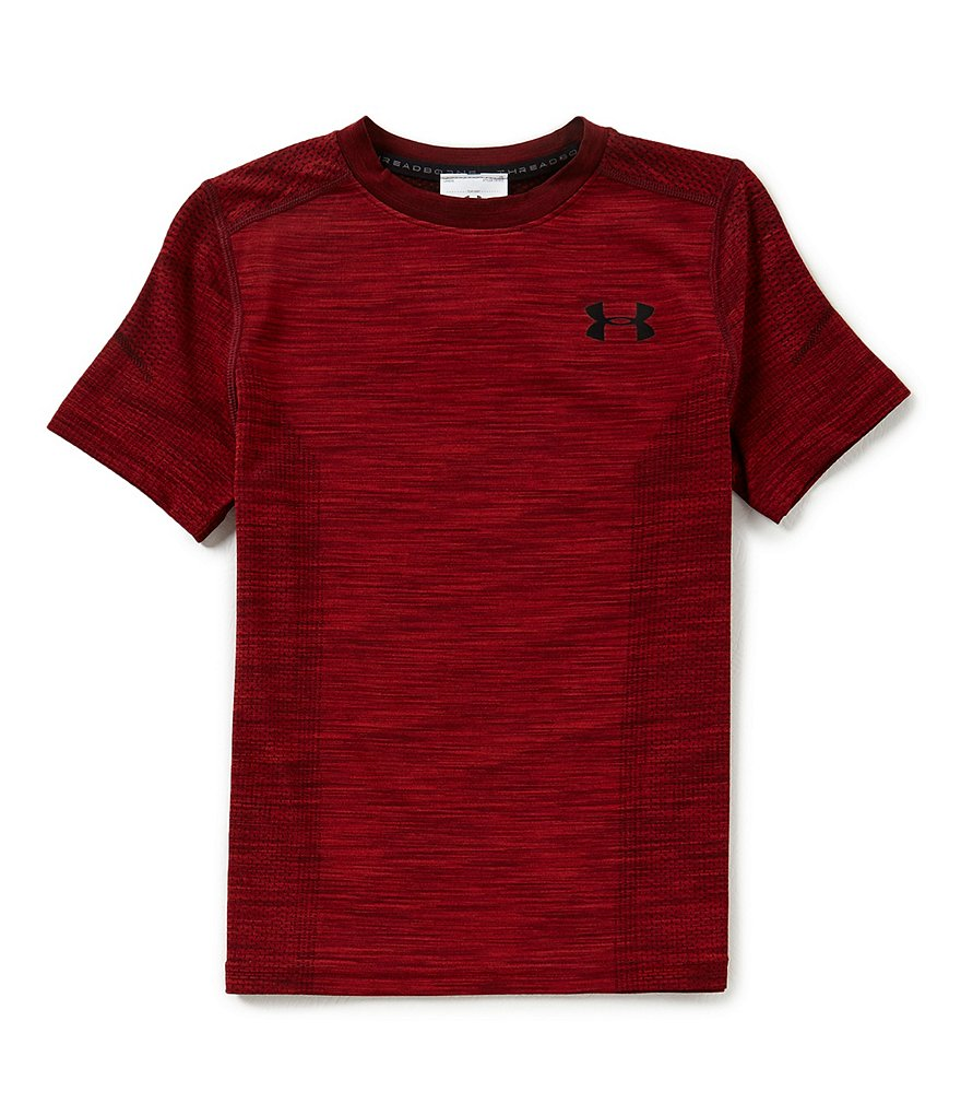 Under Armour Big Boys 8-20 Threadborne Knit Crew Neck Short-Sleeve Tee