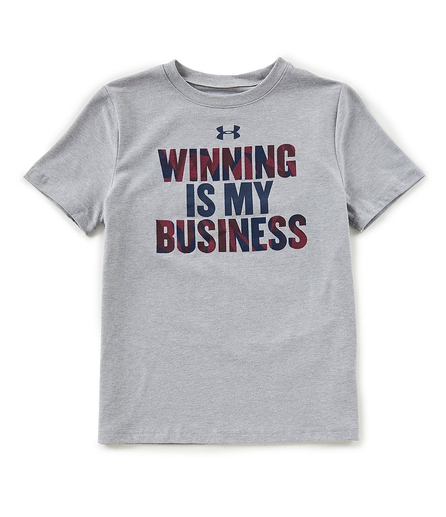 Under Armour Big Boys 8-20 Winning Is My Business Short-Sleeve Tee