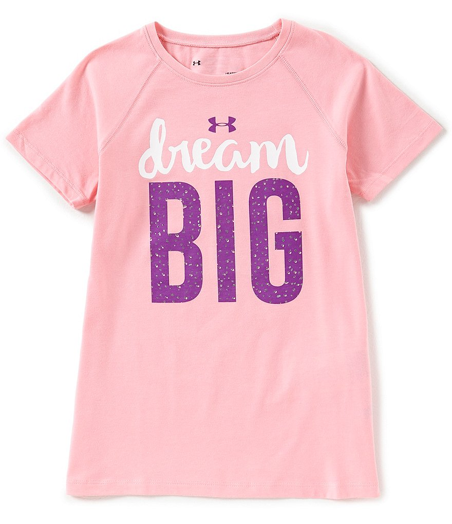 Under Armour Big Girls 7-16 Dream Big Short-Sleeve Tee