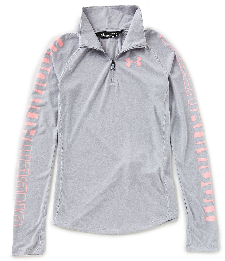 Under Armour Big Girls 7-16 Threadborne 1/4-Zip Shirt