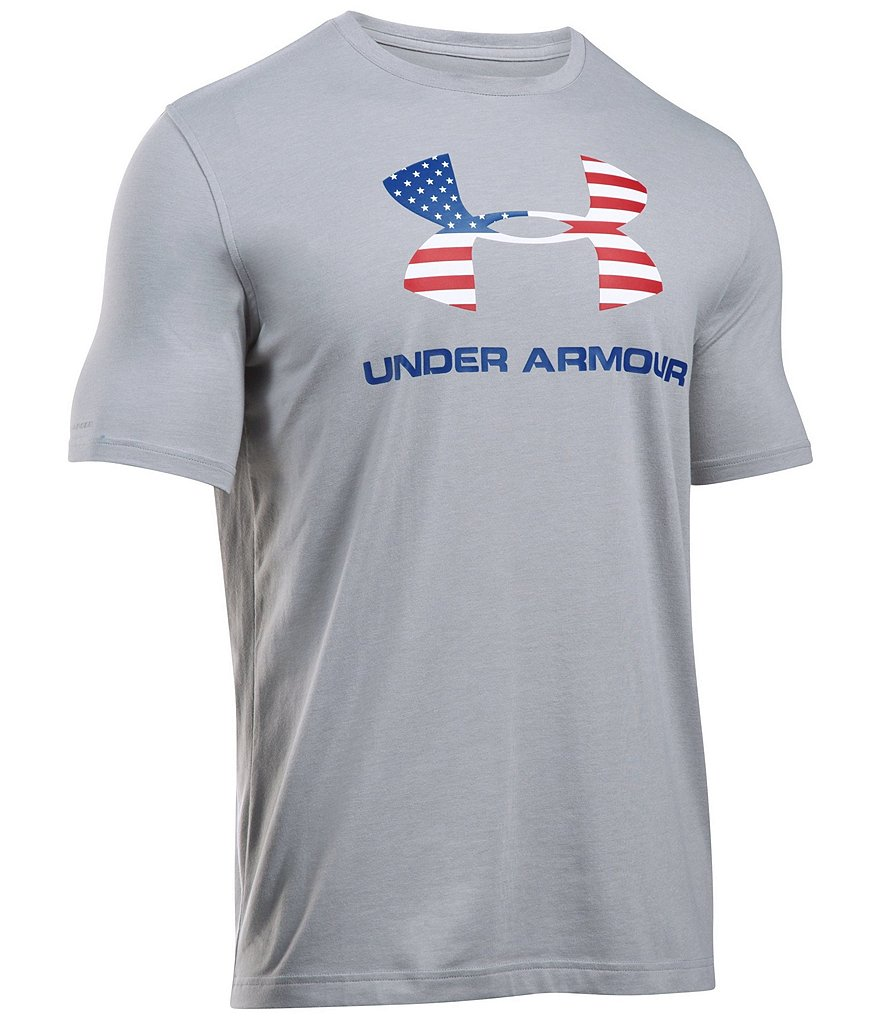 Under Armour Charged Cotton Short-Sleeve Sportstyle Logo Graphic Crewneck Tee
