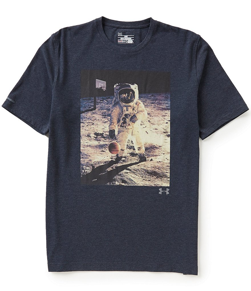 Under Armour Crewneck Space Ball Graphic Tee