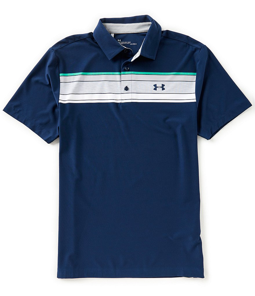 Under Armour Golf Hazard Stripe Playoff Polo Shirt