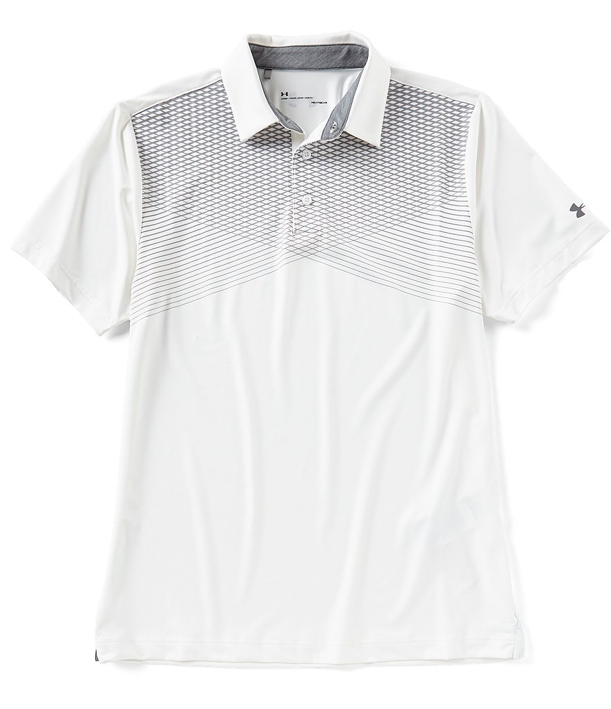 Under Armour Golf Lines Print Playoff Polo Shirt