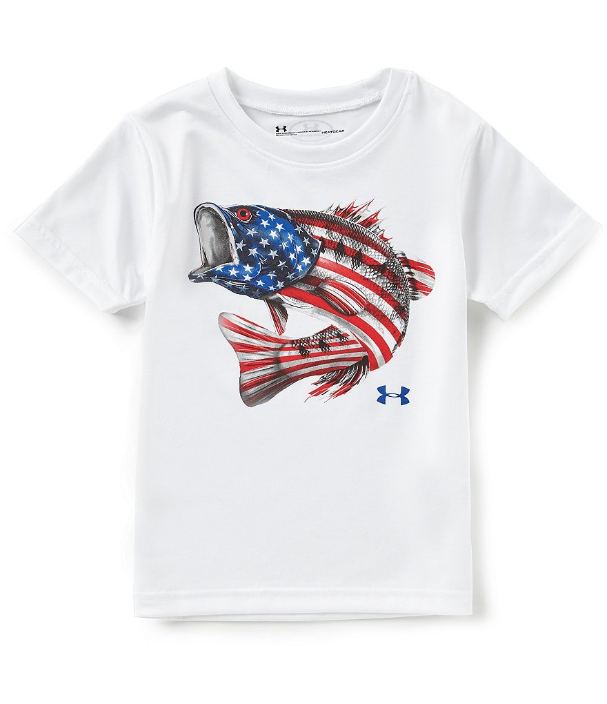 Under Armour Litte Boys 2T-7 Flag Bass Tee