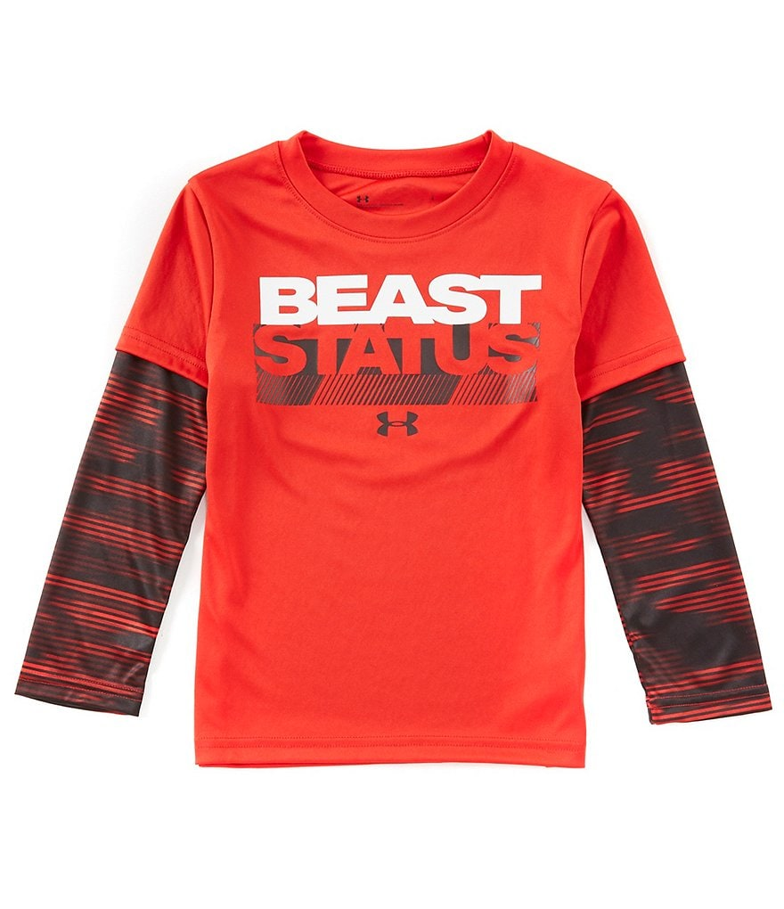 Under Armour Little Boys 2t 7 Beast Status Two Fer Screen Printed