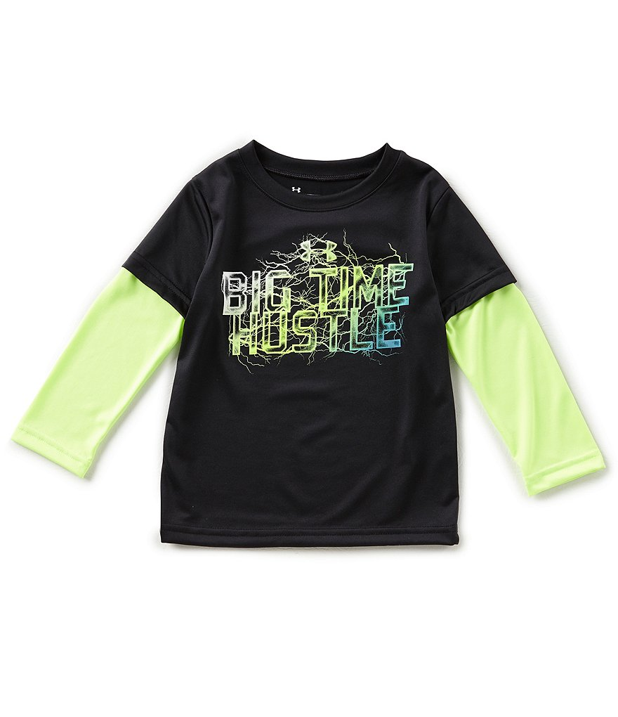 Under Armour Little Boys 2T-7 Big Time Hustle Two-Fer Tee