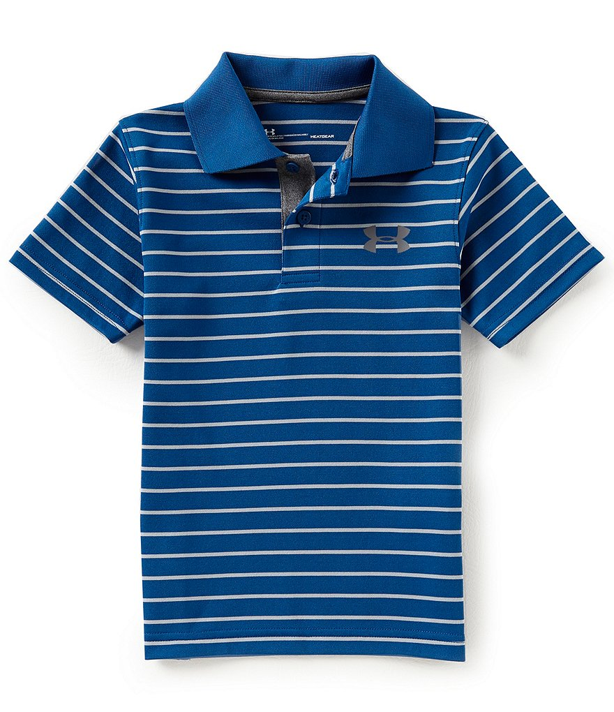 Under Armour Little Boys 2T-7 Playoff Striped Polo Shirt