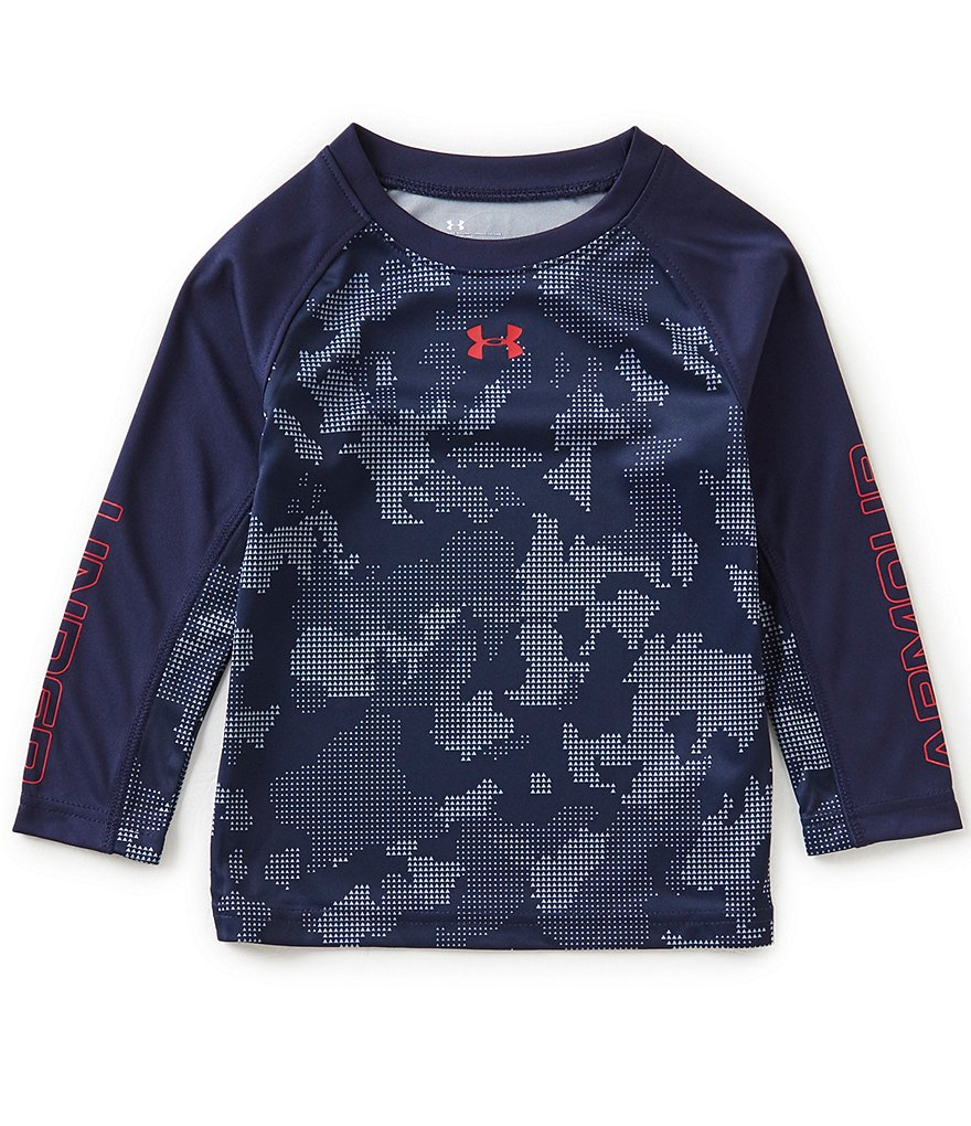 Under Armour Little Boys 2T-7 Raglan-Sleeve Camouflage-Print Tee