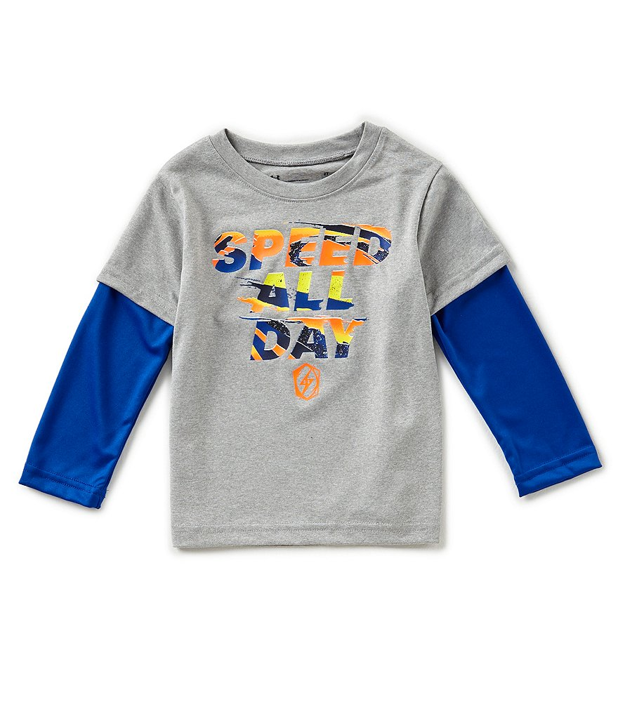 Under Armour Little Boys 2T-7 Speed All Day Two-Fer Tee
