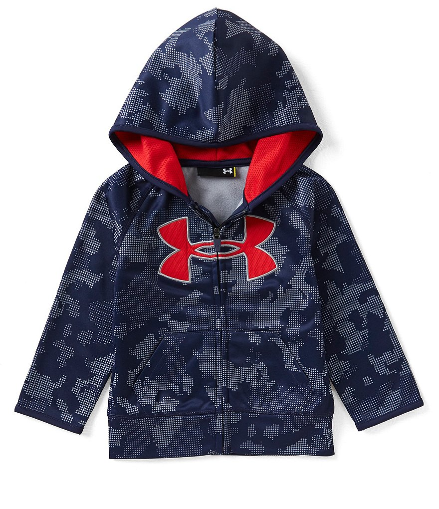 Under Armour Little Boys 2T-7 Utility Camo Big Logo Zip Front Hoodie