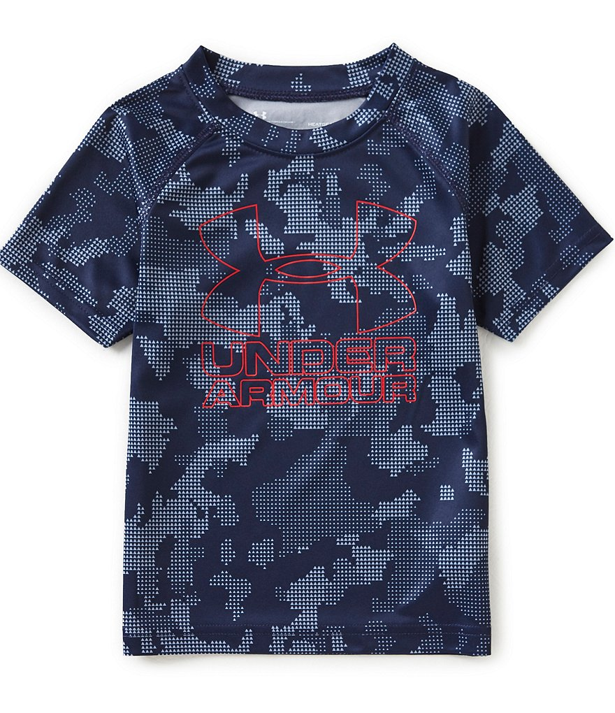 Under Armour Little Boys 2T-7 Utility Camo Printed Large Logo Short-Sleeve Tee