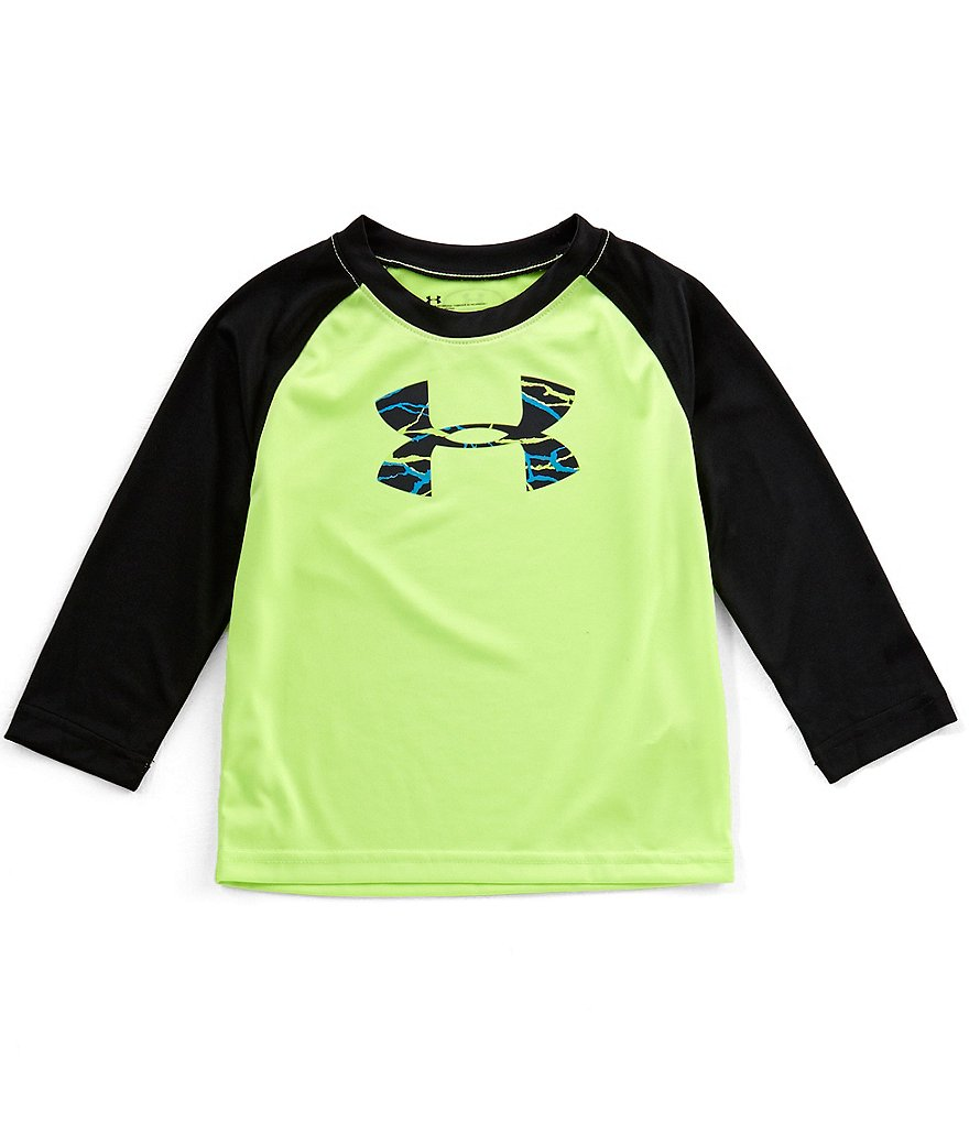 Under Armour Little Boys 2T-7 Voltage Big Logo Raglan-Sleeve Tee