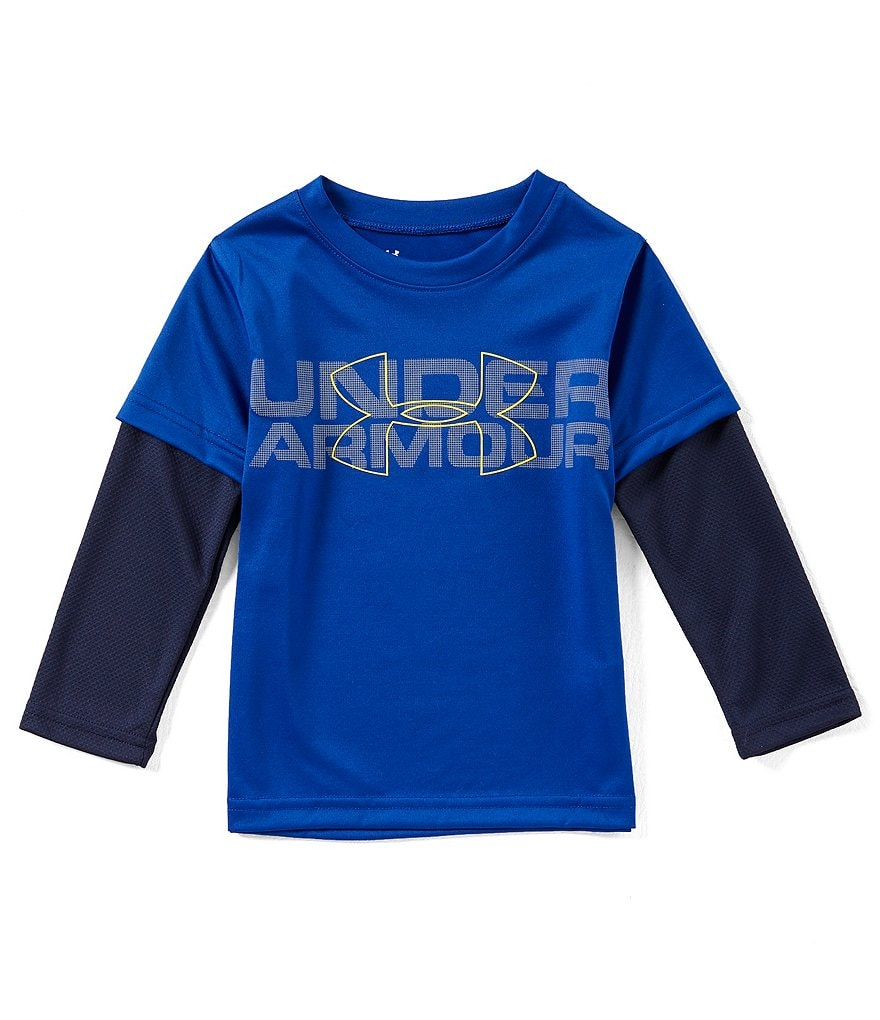 Under Armour Little Boys 2T-7 Wordmark Two-Fer Tee