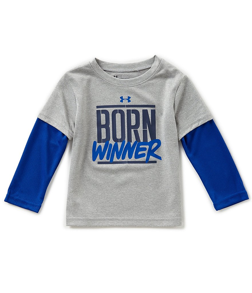 Under Armour Little Boys 2T-7 Born Winner Two-Fer Tee