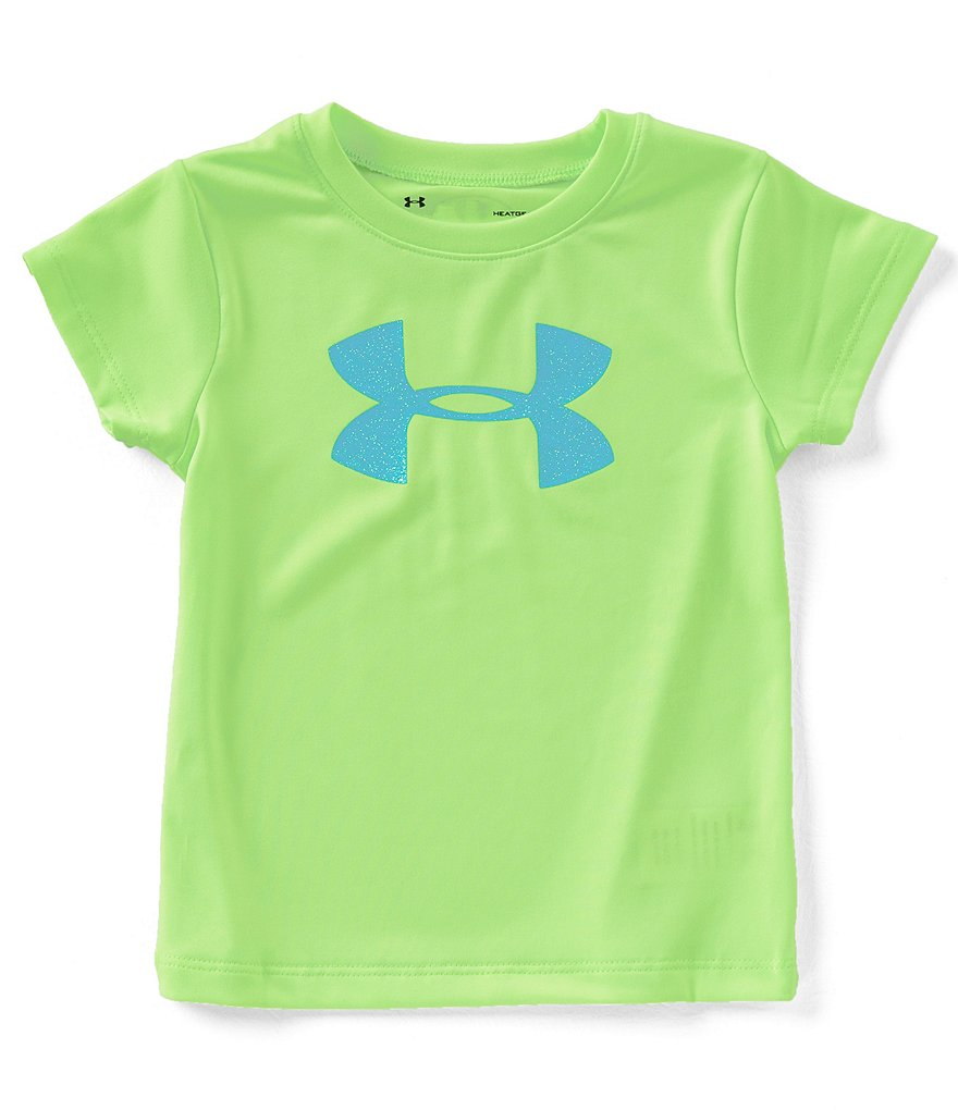 Under Armour Little Girls 2T-6X Big Glitter Logo Tee