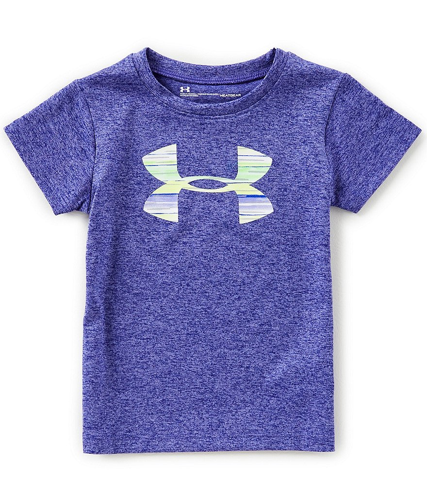 Under Armour Little Girls 2T-6X Big Logo Short-Sleeve Tee