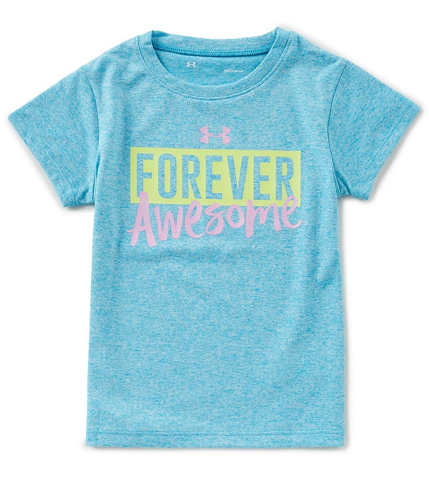 Under Armour Little Girls 2T-6X Short-Sleeve Forever Awesome Tee