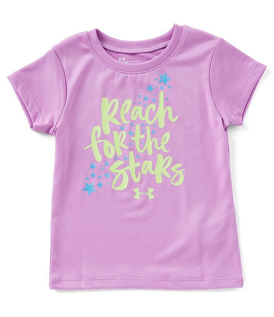 Under Armour Little Girls 2T-6X Short-Sleeve Reach For The Stars Tee