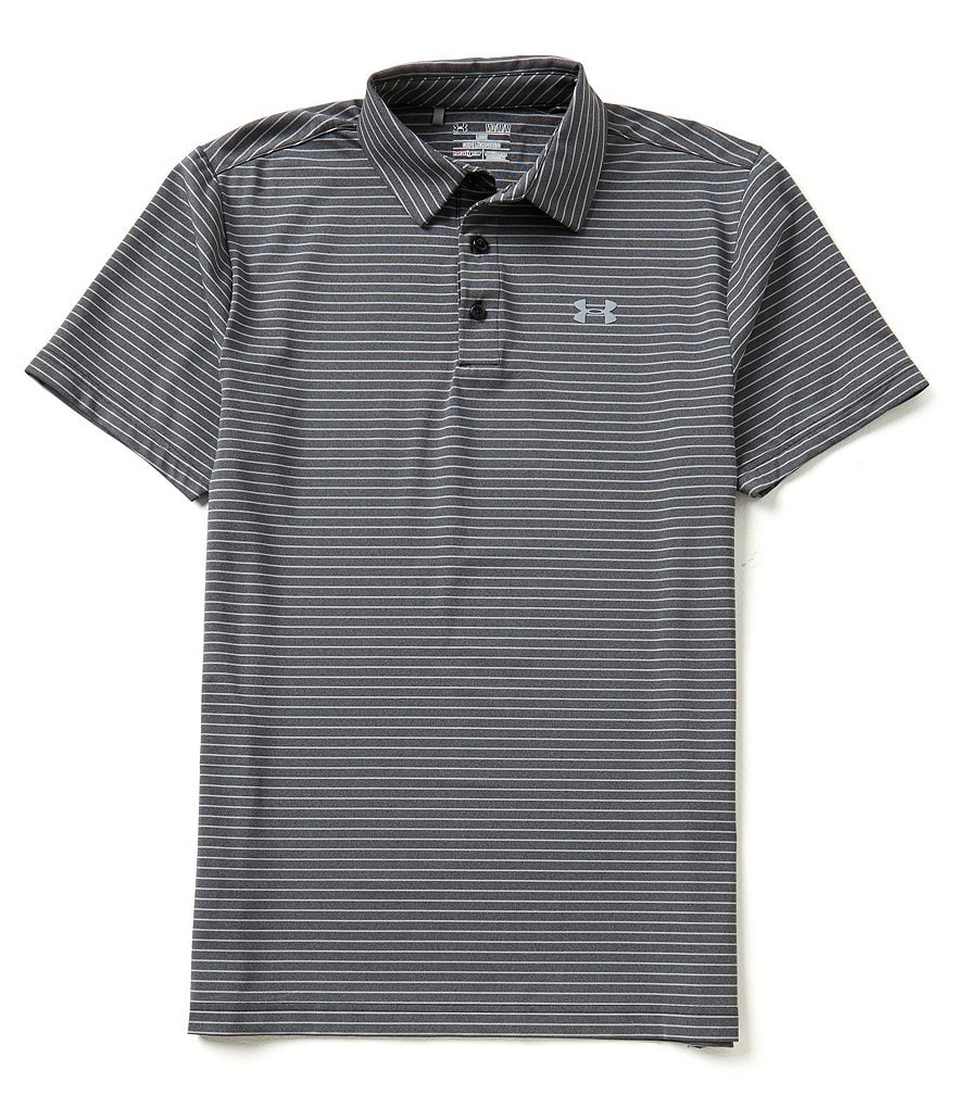 Under Armour Golf Playoff Heather Horizontal Stripe Polo Shirt