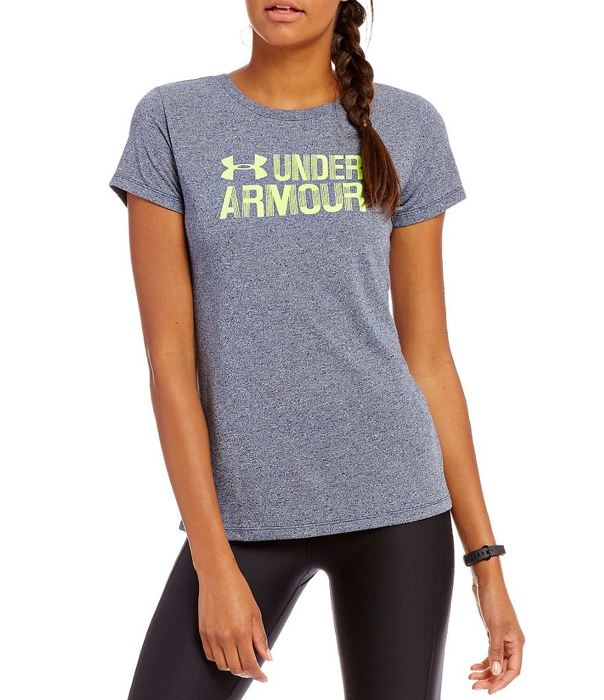 Under Armour Threadborne Twist Graphic Short Sleeve Top