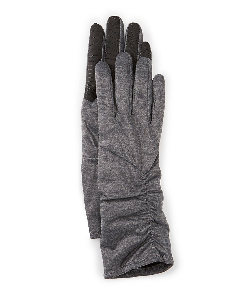 UR Ruched Tech Gloves with Faux-Fur Lining
