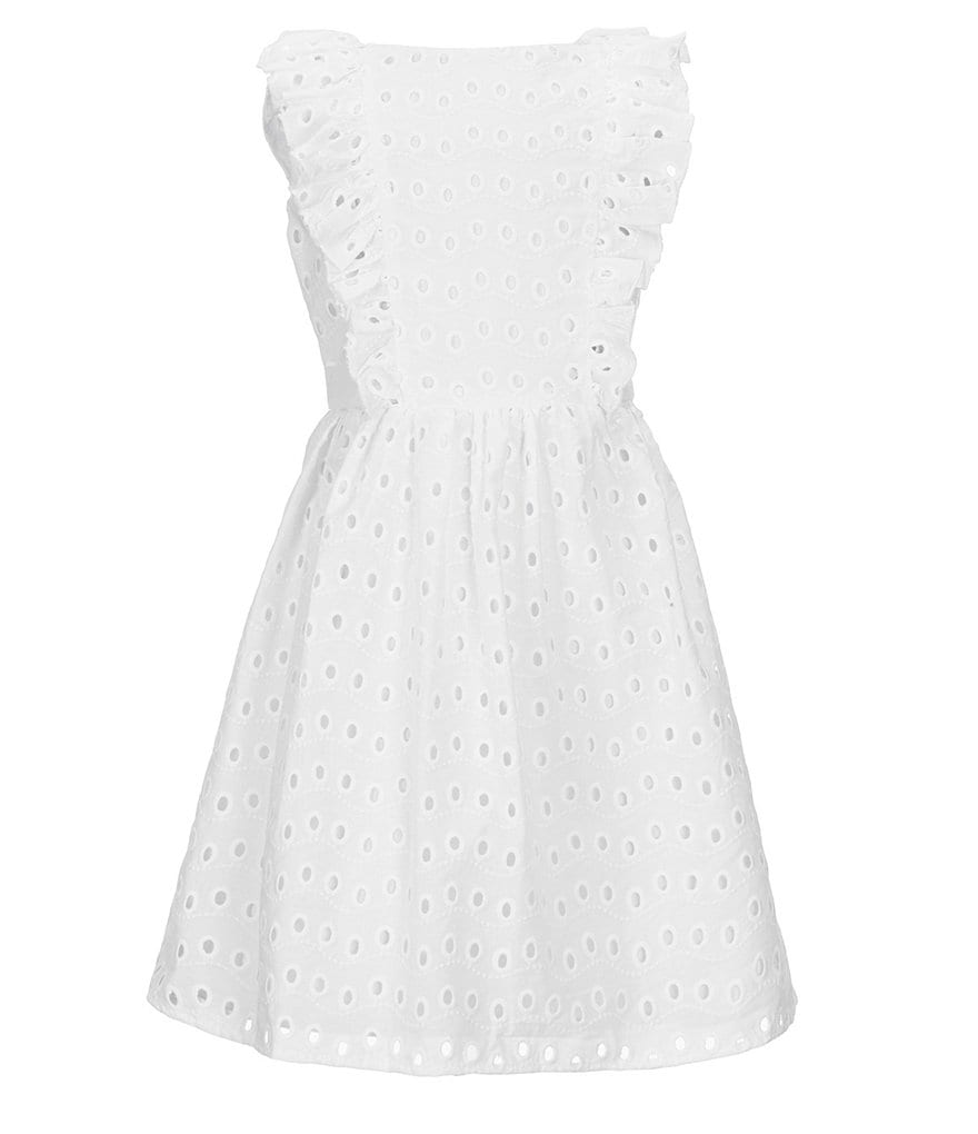 Us Angels Little Girls 2T-6X Eyelet Lace Dress
